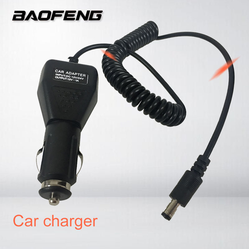 BAOFENG Car Charger Battery Cable Walkie Talkie Accessories LineFor UV-5R UV-82 UV-5RE Uv-9r UV-XR Uvb2 Plus TG-UV2