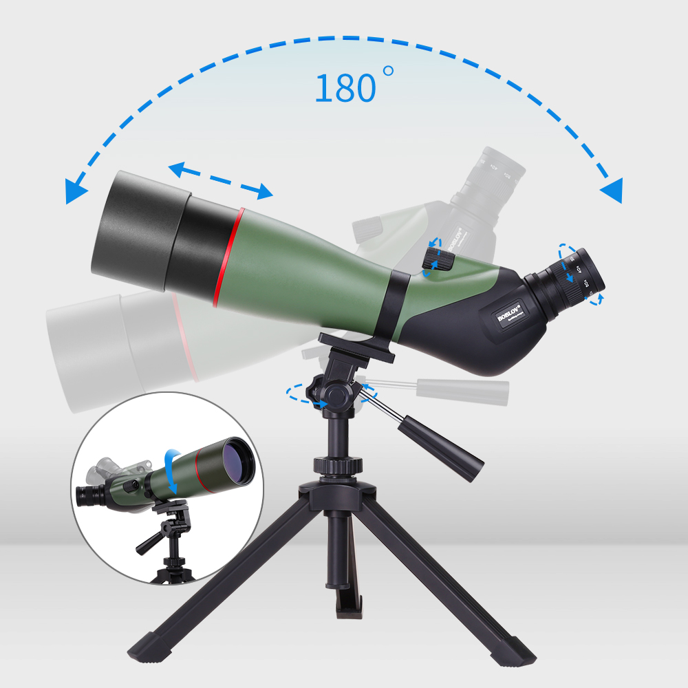 Image 3 - BOBLOV 20 60X80 Spotting Scope Waterproof Scope for Bird Watching Target Shooting Archery Range Outdoor Activities with Tripod-in Spotting Scopes from Sports & Entertainment
