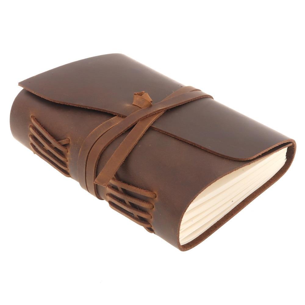 Handgjord äkta läder anteckningsbokstidskrift 5x7 tums - Block och anteckningsböcker - Foto 2