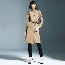 New arrival england style womens Trench coat 2019 Fall runways elegant belt windbreaker women Wind A623