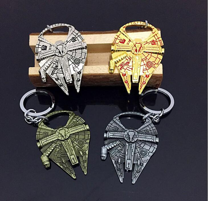 Star Wars Millennium Falcon R2D2 Darth Vader Beer Bottle Opener Keychain Key Rings Deadpool Openers Pendants Star Treck Gifts