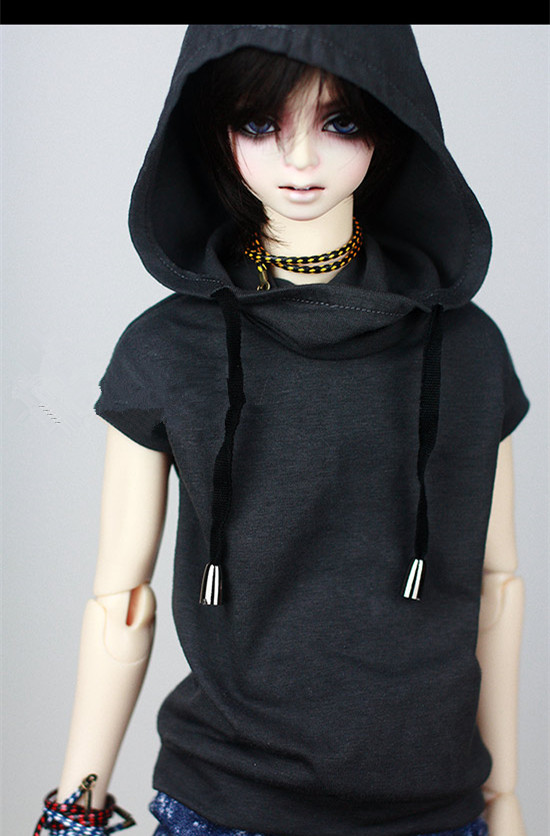 Super Cool Sleeveless Hoodies T Shirt for BJD doll 1/4,1/3,SD16,SD17,Uncle,SSDF SD LUTS DOD AS DZ Doll Clothes CMB7