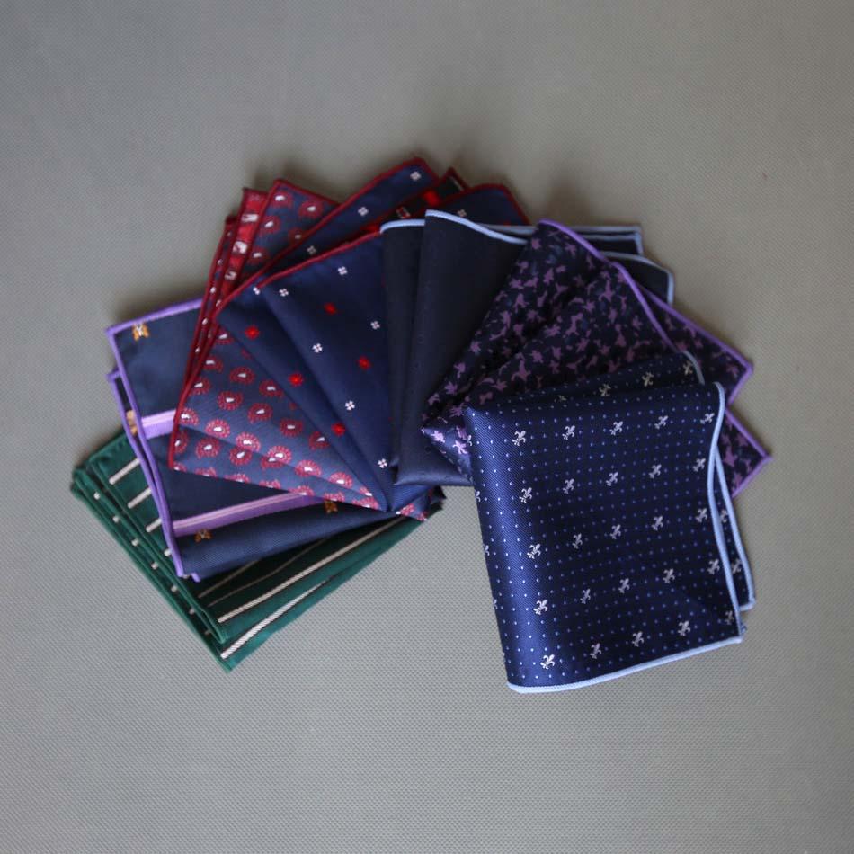 50 Styles MENS Handkerchief Man Paisley Cartoon Animal Patterns Dot Pocket Square Men Floral Casual Hankies Wedding Accessories