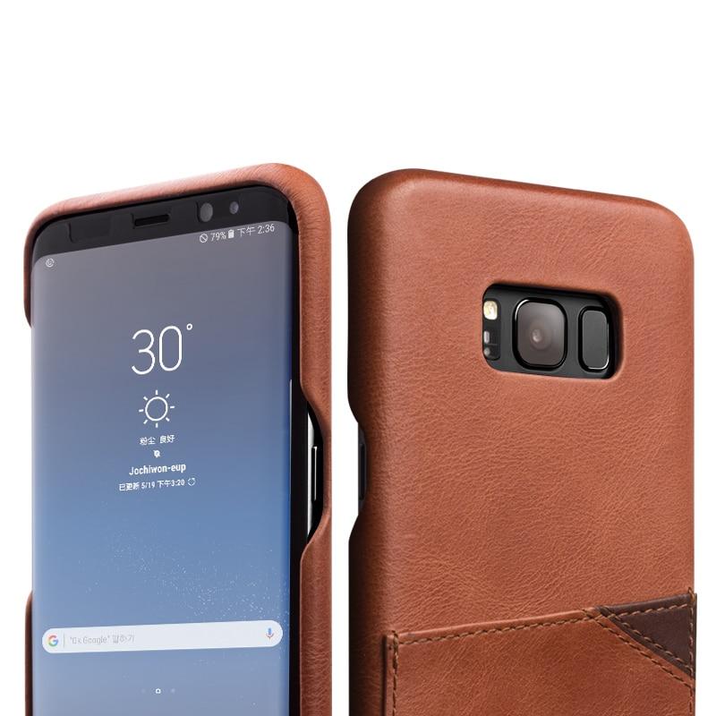 Carcasa de lux QIALINO pentru Samsung Galaxy S8 Fashion Husă - Accesorii și piese pentru telefoane mobile