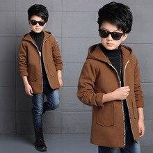 Children's clothing boy's jacket fashion woolen zipper cardigan Slim woolen coat in the big children's casual shirt