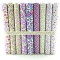 Cotton Fabric 9 Designs Mixed Pretty Purple Floral Fat Quarter Bundle Tilda Quilting scrapbooking Patchwork 50CMx50CM