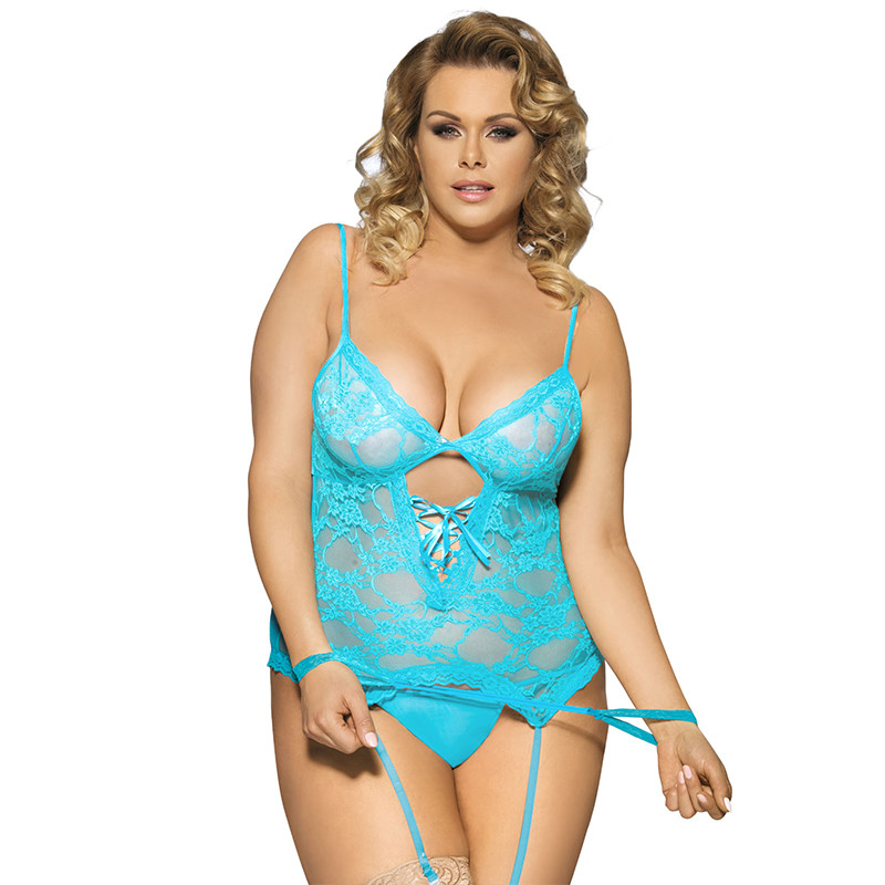 Porno Babydoll Sexy Plus Size <font><b>6XL</b></font> Lace <font><b>Lingerie</b></font> Femme Nighties With Handcuffs Lady Sexy Underwear Hot Erotic Langerie RL7600P image