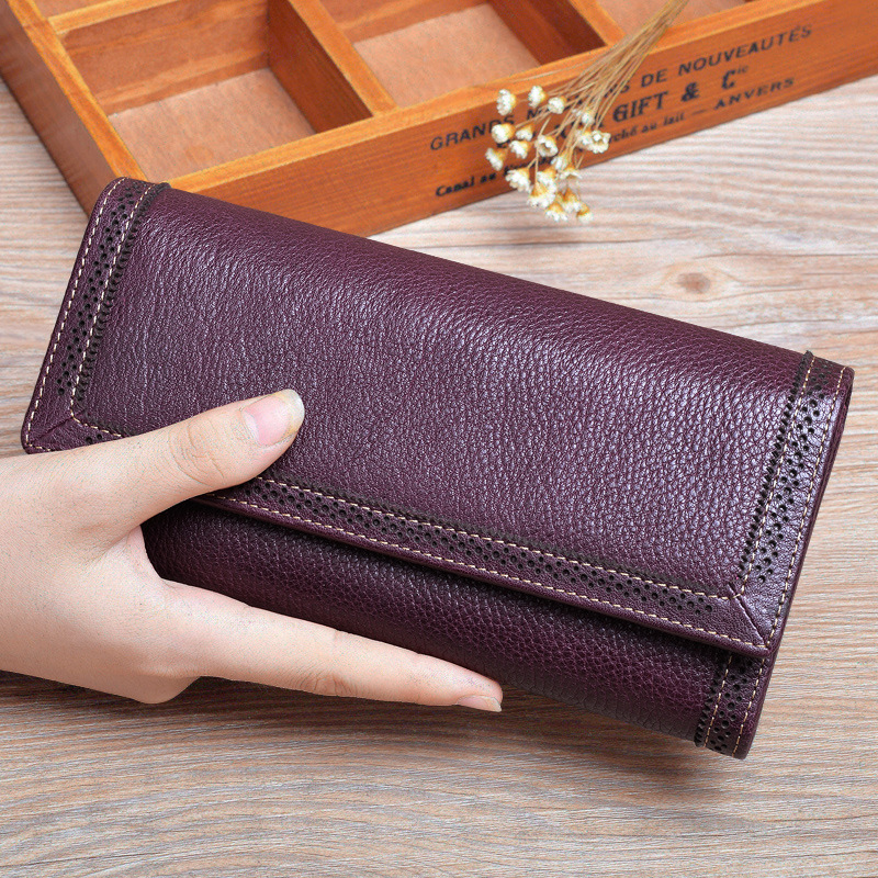 TCTTT Fashion Genuine leather womens wallets and purses Designer Brand Coin Long Zipper Card Holder Money Bag Carteras Cuzdan keithnico 1m 3ft cable wire wrap organizer spiral tube cable winder cord protector flexible management wire storage pipe 16mm