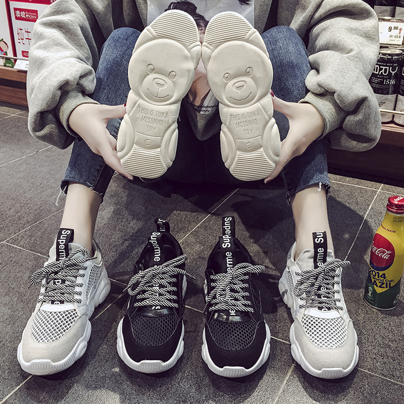 Occident Platform Sneakers Women 2019 Spring New Slimer Breathable Air Mesh Casual Shoes Student Comfortable Walking ShoesOccident Platform Sneakers Women 2019 Spring New Slimer Breathable Air Mesh Casual Shoes Student Comfortable Walking Shoes