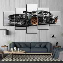 HD Printed 5 panels Ford Mustang Rtr car Poster Canvas Paintings Wall Art race Pieces Decor Framework ny-1883