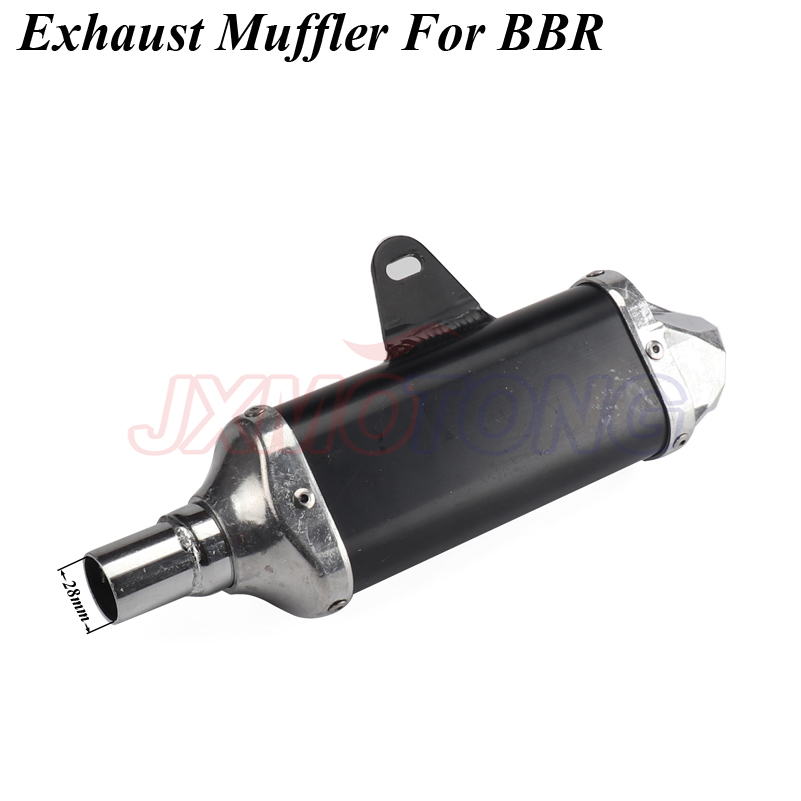 Motorcycle <font><b>Exhaust</b></font> <font><b>pipe</b></font> Muffler For BBR Style Chinese KAYO BSE Apollo Pit Bike Dirt Bike <font><b>110cc</b></font> 125cc Aluminum image