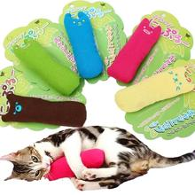2017 Funny Cute Pet kitten Cat Thumb Toy Cotton Scratch Scratching Containing Catnip Natural Mint Pillow Cushion Toys Supplies
