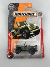 New 2018 Matchbox Urban Hero Series 1:64 43 JEEP WILLYS Metal Diecast Cars Kids Toys Vehicle for Children Models(China)