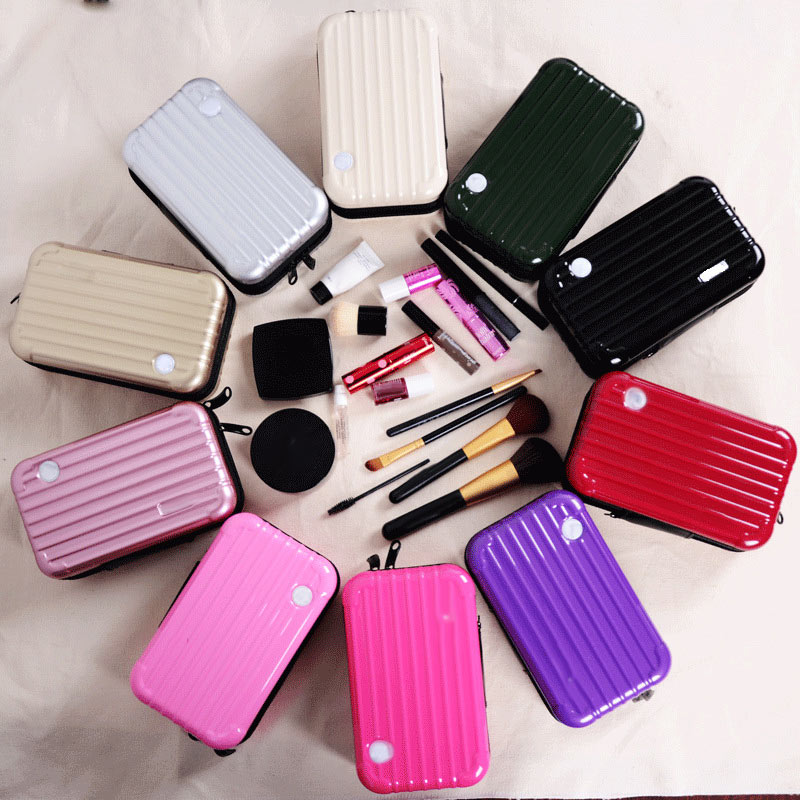 Luggage Design Travel Cosmetic Bags Makeup Organizer Case Brushes Lipstick Toiletry Storage Box косметичка женская