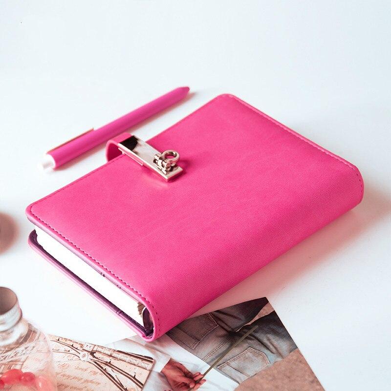 QSHOIC A6 Binder Notebook Small Hand Book Creative Diary