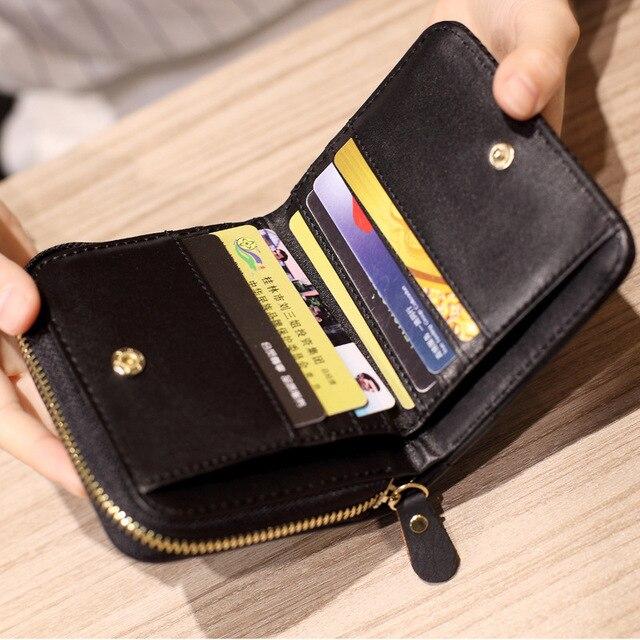Women Short Wallets PU Leather Female Card Holder