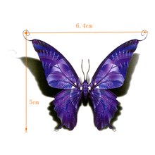 Purple Butterfly Waterproof Temporary Tattoos Men Fake Tattoo The Flash Beauty Animals Tatuajes Tatoos Temporarles For Women