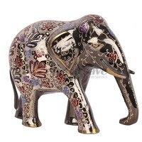 Brass 8.3 Elegant Elephant Trunk Statue Lucky Figurine Gift & Home Decor