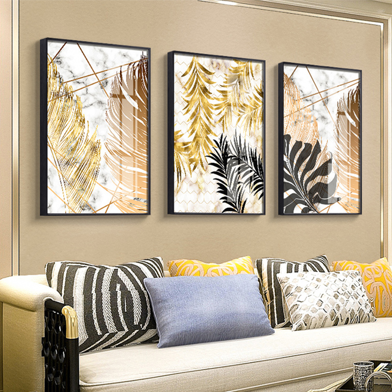 Nordic plants Golden leaf canvas painting posters and print wall art pictures for living room bedroom Nordic plants Golden leaf canvas painting posters and print wall art pictures for living room bedroom dinning room modern decor