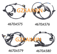 4 ön arka ABS tekerlek hiz sensörleri seti Mitsubishi Lancer Outlander için 4670A576 4670A575 4670A580 4670A579|set|set ofset 4 -