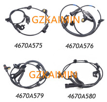 SET OF 4 Front Rear ABS Wheel Speed Sensors set for Mitsubishi Lancer Outlander 4670A576 4670A575 4670A580 4670A579