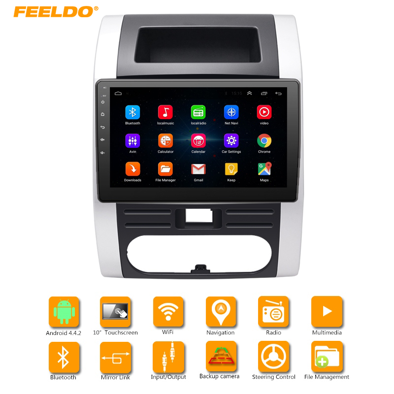 FEELDO 10 2inch HD Android 6 0 Quad Core Car Media Player With font b GPS