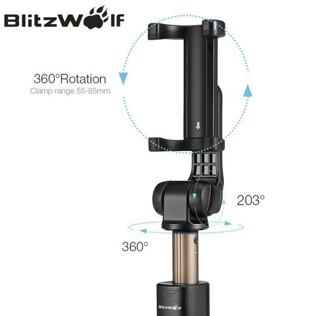 BlitzWolf BS3 Wireless bluetooth Selfie Stick Mini Tripod Extendable Foldable Monopod For iPhone For Samsung Xiaomi Huawei Phone 3