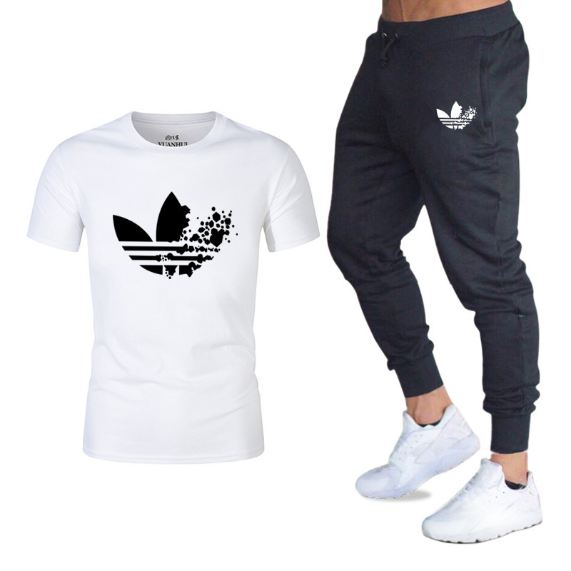 33c20458678c Detail Feedback Questions about Sportsuits Set Men Gold Brand Fitness  Suits2019 Summer 2PC Top Short Set Men T shirt+Pants Fashion 2 Pieces  Casual Men ...