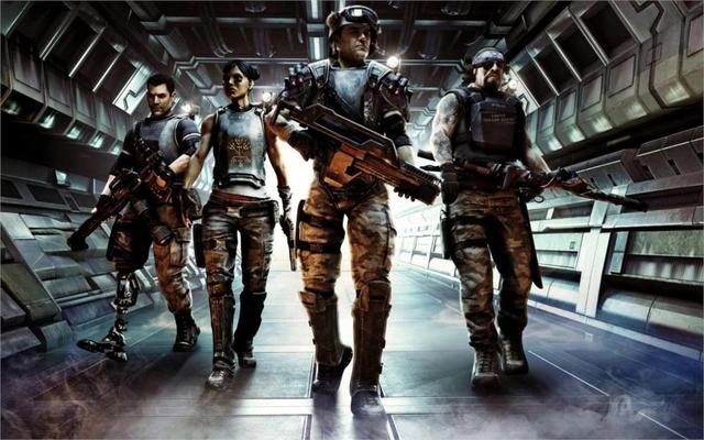 Game Aliens Colonial Marines game 4 Sizes Silk Fabric Canvas Poster Print