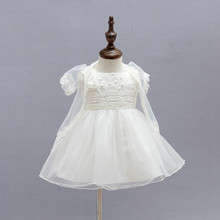 Free ShippingDHL wholesale white lace  infant baby girl dress baby girl dress baby girl christening baptismal gown
