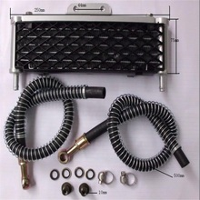 цены new 110cc-125cc Engine Oil Cooling Radiator cooler for moto atv motorcycle dirt pit bike parts