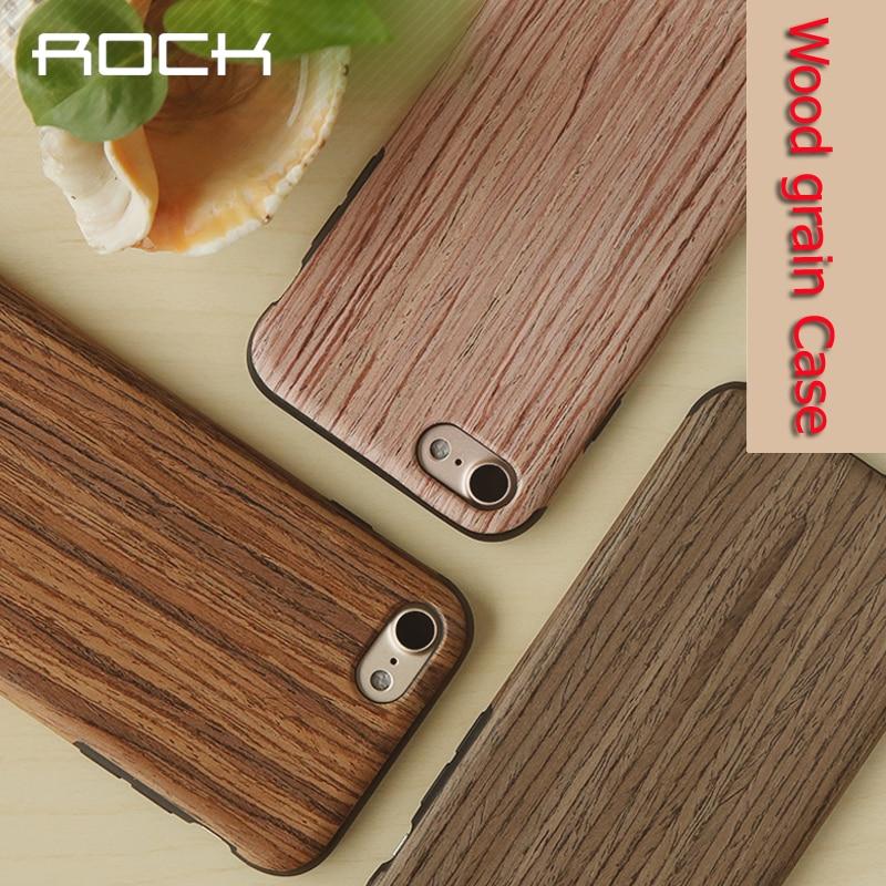 Rock pentru iphone 7 plus carcasă din lemn cu capac de lux tpu - Accesorii și piese pentru telefoane mobile
