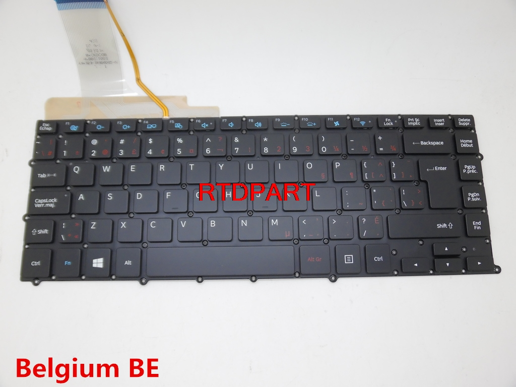 Laptop Keyboard For Samsung NP900X4B NP900X4C NP900X4D Backlit Belgium BE Germany GR Russia RU English US Czech CZ BA59-03331G new laptop keyboard with c shell for samsung series 7 chronos np 700z3a np700z3a np 700z3ah gr it ru uk us hungary version