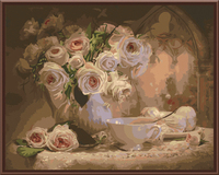 2016 Frameless Pictures Painting By Numbers Home Decor Hand Painted Oil On Canvas Flower For Living