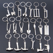 Creative Multi Tools Key Chain Hex Wrench Vise Hammer Shovel Pendant Man Boyfriend Father Present Party Gifts Souvenir