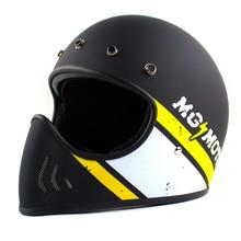 TMC Safety  Motorcycle Helmet Black Cruise Spirit Rider Retro Motocross Helmets Full Face Helmets Glass Fiber