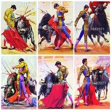 New Painting Best Wall Art Decoration Handmade Abstract Matador Oil