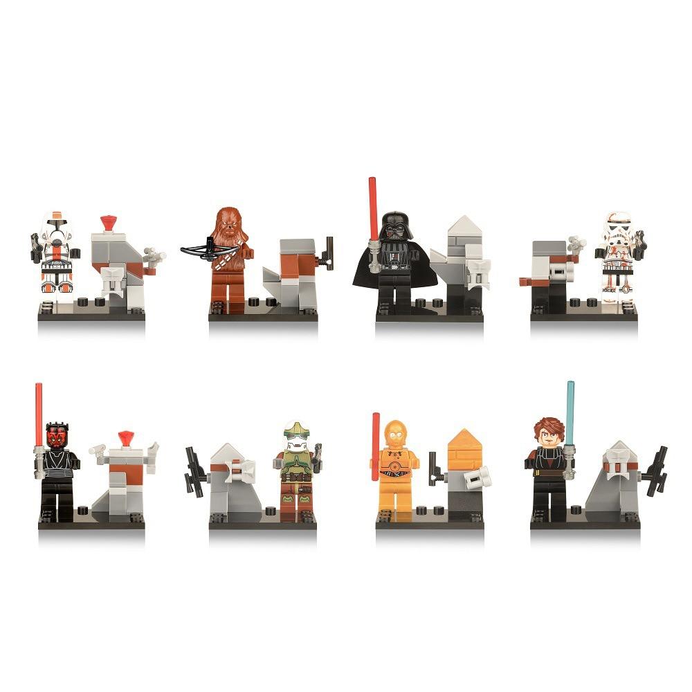 8pcs legoeINGly zvijezda ratova snagu buđenje mini građevinski - Izgradnja igračke - Foto 4