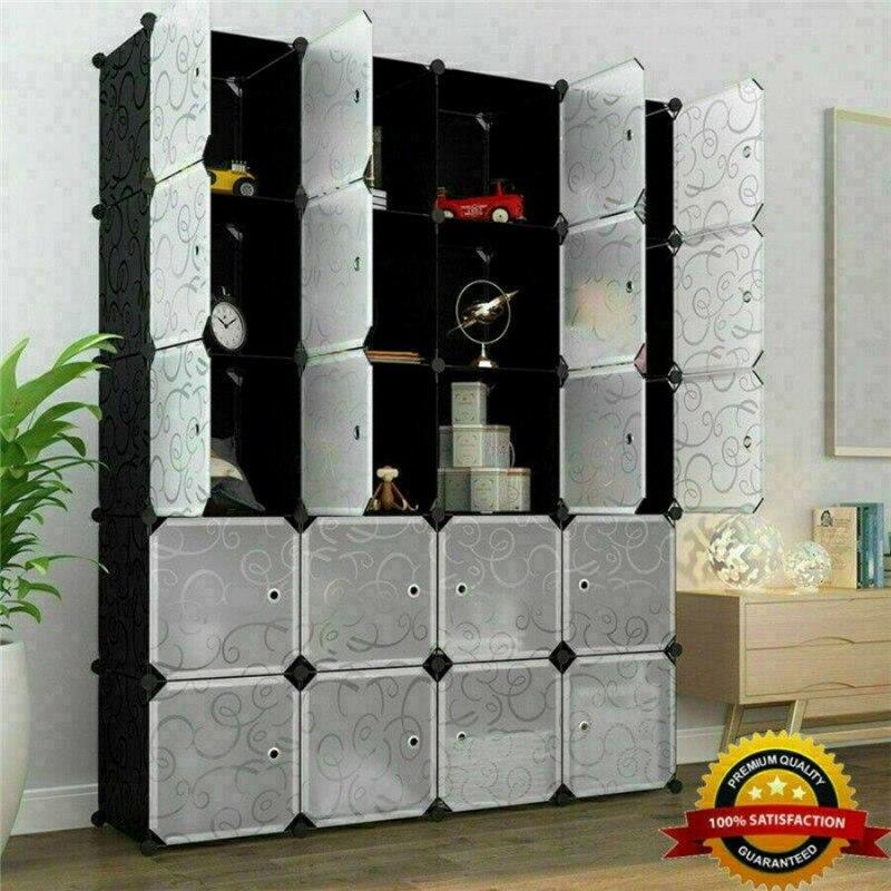 5x Decor Home Wall Stickers Cube Diy Modular Closet Organizer
