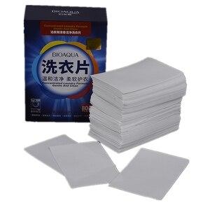 40/120 piezas tabletas de limpieza de fragancia para lavandería papel líquido para lavar en polvo jabón suavizante ropa de lavado