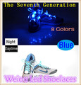 Hot Weiou hot selling new style colorful nylon flashing led shoelaces with battery luminescent shoe laces