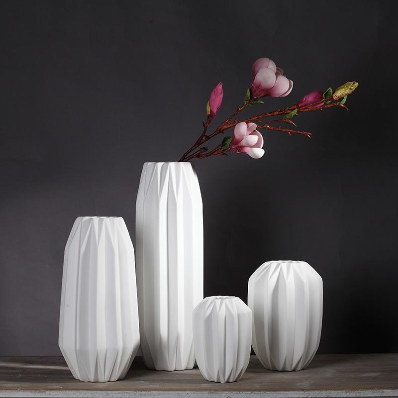 2016 New Design White Ceramic Creative Contracted Flower
