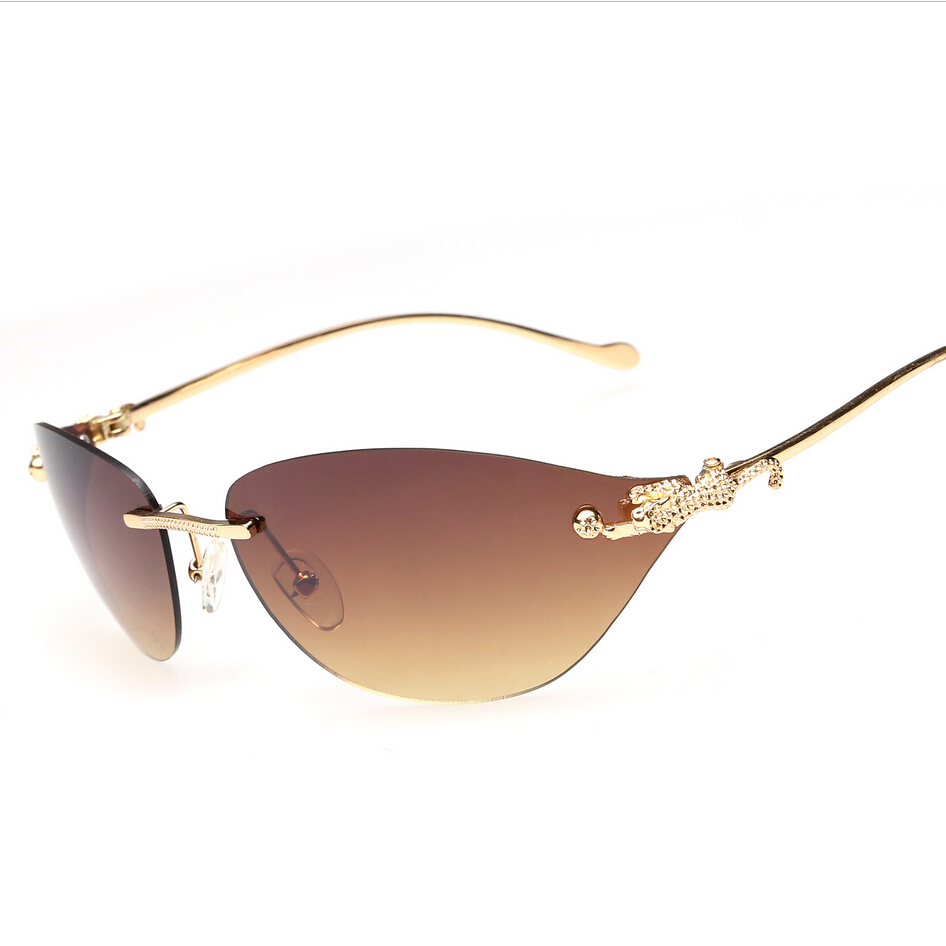High Quality Rimless Womens Sunglasses Brand Designer -5770