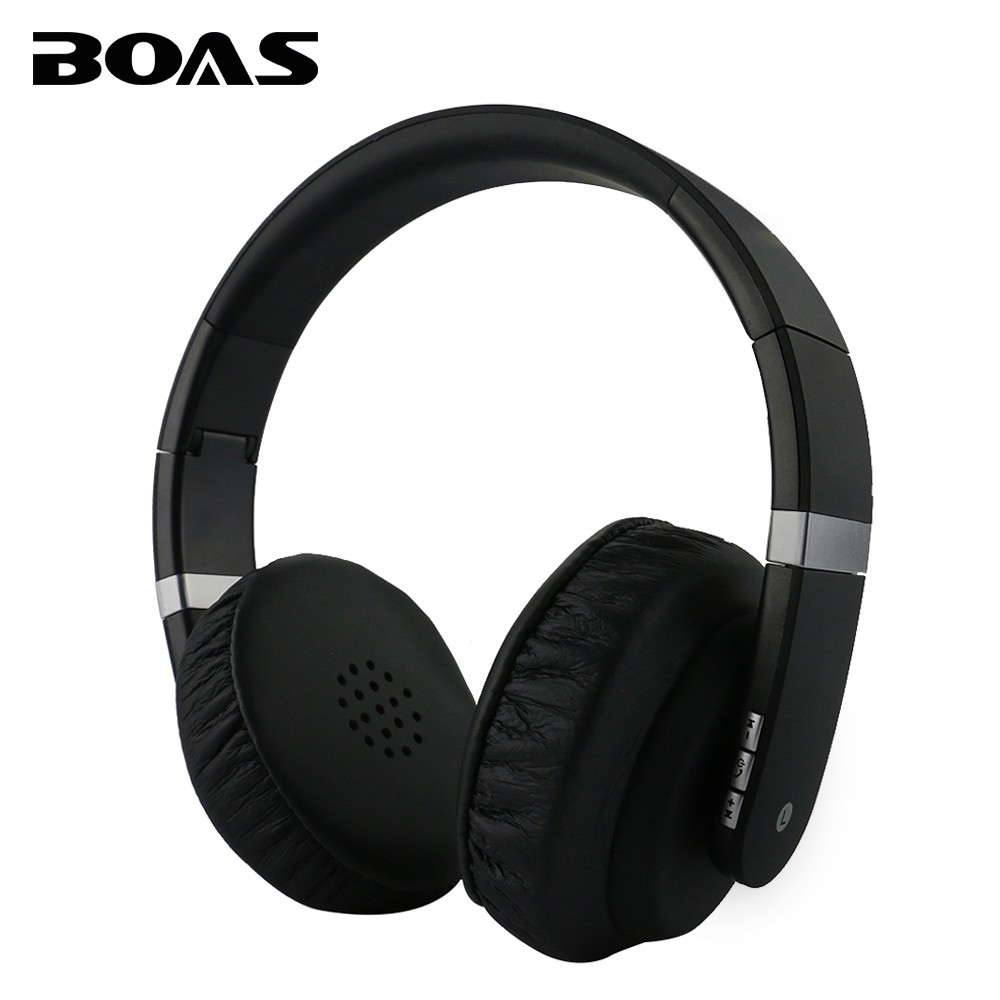 BOAS Bluetooth 4.2 Handsfree Noise Reduction Stereo Headphone Bass Wireless Headset Earphone with Microphone for iPhone 7 Xiaomi universal wireless bluetooth 4 0 edr headset headphone with noise cancellation handsfree stereo a2dp earphone for iphone samsung
