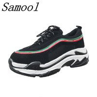 New Women Sneakers Flat Travel Shoes Lace Up Platform Thick Bottom Creepers Female Casual Flats Ladies