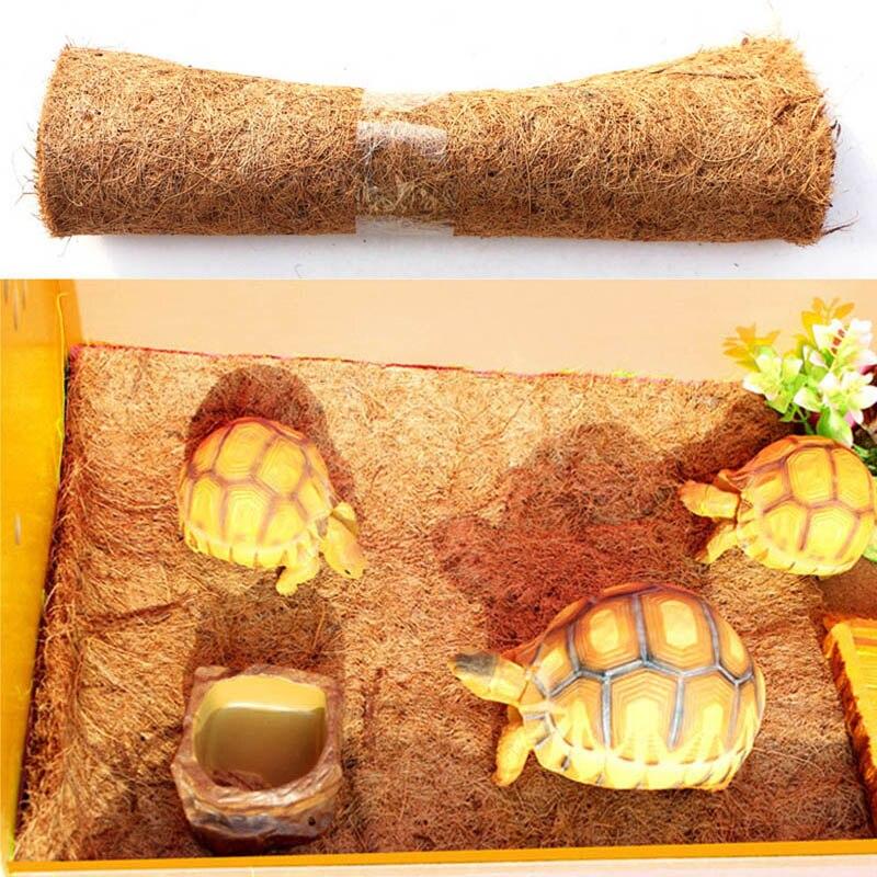 US $4 48 37% OFF|Reptile Pet Bed Mat Aquarium Tortoise Turtle Lizard  Reptiles Climbing Coconut Palm Carpet TB Sale-in Terrarium Bedding, Sand &