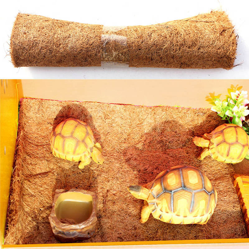 Reptile Pet Bed Mat Aquarium Tortoise Turtle Lizard Reptiles Climbing Coconut Palm Carpet TB Sale