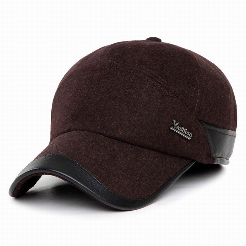 Warm winter male cap ear protection leather outdoor windproof hat thick wool baseball for and autumn keep earm