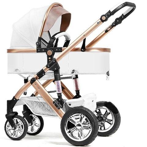 babyfond 2 em 1 couro do bebe carrinho de bebe de carro do bebe carrinho