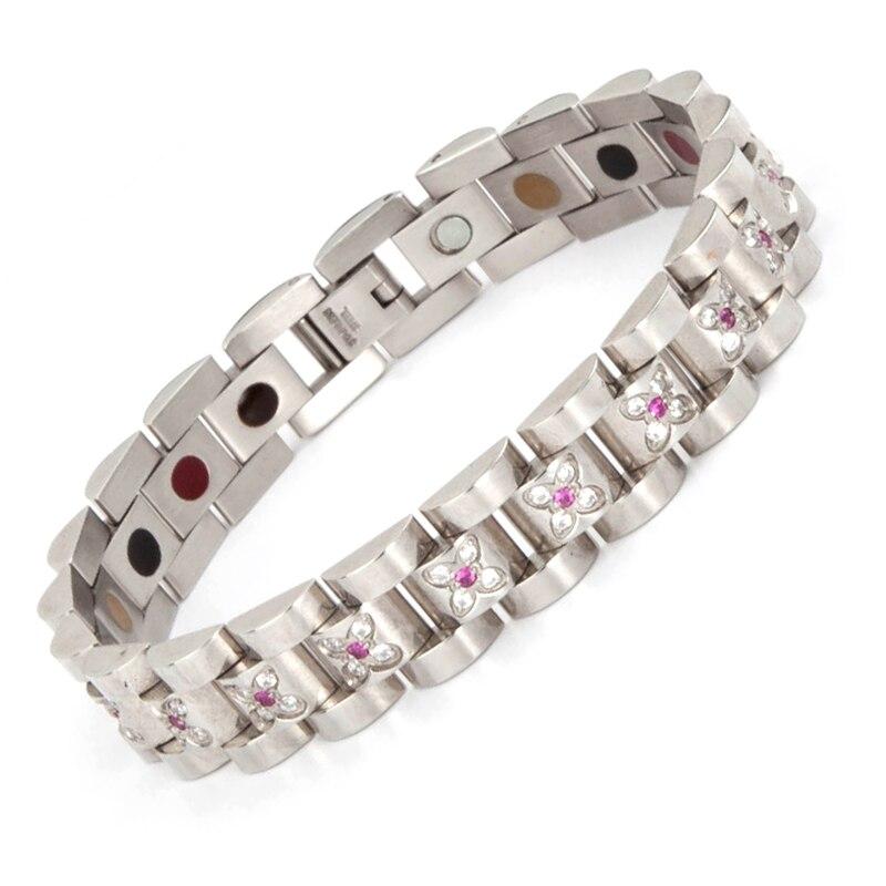 84f8548e1490 2017 New Fashion Kvinnors Hälsa Armband & Bangles Magnetisk Energi ...